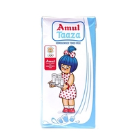 Amul Taaza Fresh Toned Milk, tetrapak, 500 ml