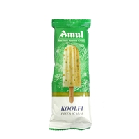Amul Pista Malai Koolfi Sticks Ice Cream 60 Ml, Pack Of 20