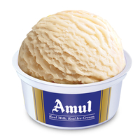 Amul Vanilla Cup Ice Cream, Pack Of 24, 30 ml