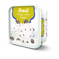 Amul Cookies N Cream Gold Ice cream, 1 litre