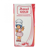Amul Gold Standardised Milk, 500 ml, tetrapak