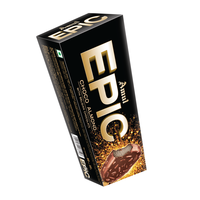 Amul Epic Choco Almond Ice Cream 80 Ml, Pack Of 16