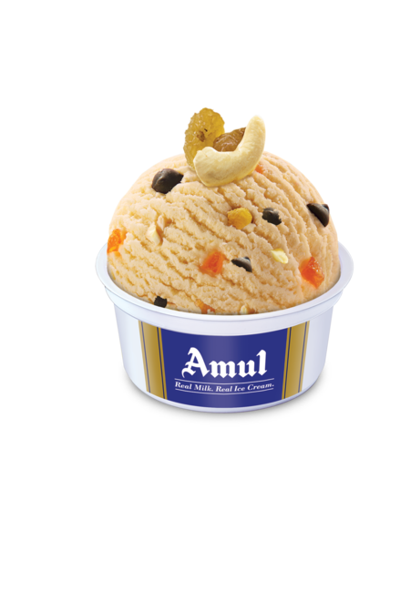Amul Afghan Dry Fruit Cup Ice Cream 100 Ml, Pack of 16