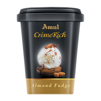 Amul Creme Rich Ice Cream 125 Ml, Pack Of 8