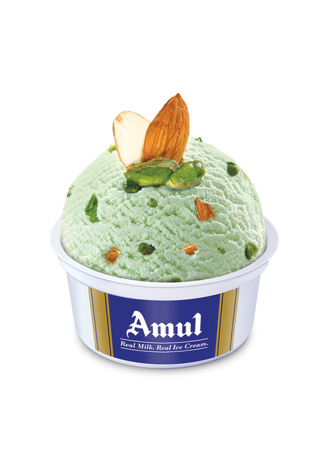 Amul Zafrani Badam Pista Cup Ice Cream 100 Ml, Pack Of 16