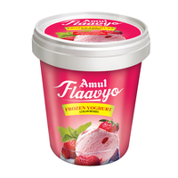 Amul Frozen Yoghurt Strawberry Ice Cream 125 Ml, Pack Of 8