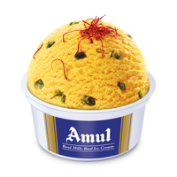 Amul Kesar Pista Cup Ice Cream 100 Ml, Pack Of 16