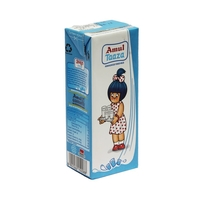 Amul Taaza Fresh Toned Milk, 200 ml, tetrapak