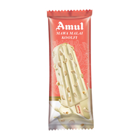 Amul Mawa Malai Sticks Ice Cream 60 Ml, Pack Of 20