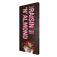 Amul Raisin 'N' Almond Chocolate, 150gm