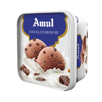 Amul chocolate brownie ice cream, 1 liter