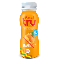 Amul TRU Orange, 180 ml, pet bottle