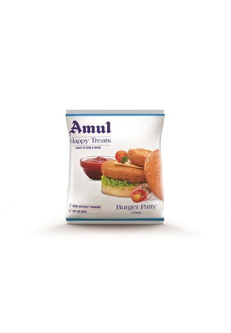 Amul Happy Treats VegBurgerPatty, 360 gm