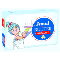 Amul Unsalted Butter, 100 gm, block