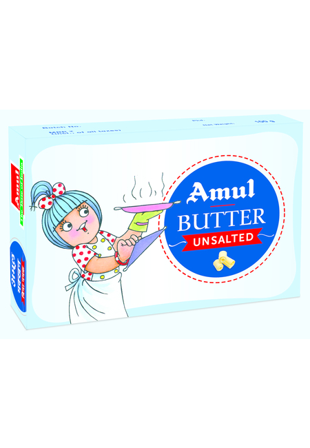 Amul Unsalted Butter, block, 100 gm