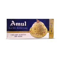 Amul Creamy Almond Combo Pack Ice Cream, (750 ml+ 750 ml)