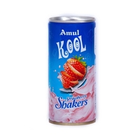 Amul Kool Strawberry Shakers, can, 200 ml